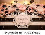 happy birthday banner | Shutterstock . vector #771857587