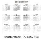 2018 calendar planner design. | Shutterstock .eps vector #771857713