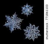 Three Snowflakes Isolated On...
