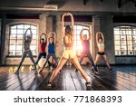 multi ethnic group of people... | Shutterstock . vector #771868393