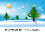 happy new year merry christmas  ... | Shutterstock .eps vector #771870283