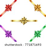 set of multi colored bows with... | Shutterstock .eps vector #771871693