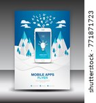 mobile apps flyer template on... | Shutterstock .eps vector #771871723
