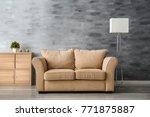 stylish sofa in interior of... | Shutterstock . vector #771875887