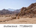 pigeon house in sinai desert ... | Shutterstock . vector #771886453