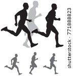 run silhouettes  running... | Shutterstock .eps vector #771888823