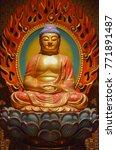 Statue Of Meditation Buddha...