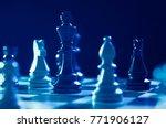 chess financial business...   Shutterstock . vector #771906127