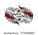 skull logo  icon or skull... | Shutterstock .eps vector #771906883