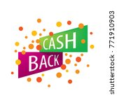 emblem cash back | Shutterstock .eps vector #771910903