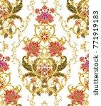 seamless pattern. golden... | Shutterstock . vector #771919183
