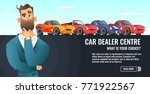 car dealer centre concept... | Shutterstock .eps vector #771922567