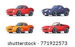 cartoon sportcar design in... | Shutterstock .eps vector #771922573