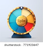 7 options spin and win wheel | Shutterstock .eps vector #771923647