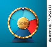 5 options spin and win wheel | Shutterstock .eps vector #771923653
