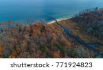 an aerial drone view of the... | Shutterstock . vector #771924823