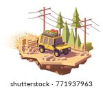 vector low poly off road 4x4... | Shutterstock .eps vector #771937963