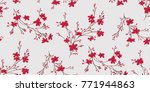 seamless floral pattern in... | Shutterstock .eps vector #771944863