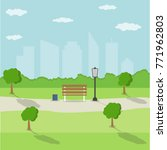 city park in the background of... | Shutterstock .eps vector #771962803