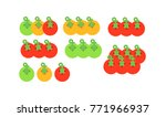 set of growing tomatoes  red... | Shutterstock .eps vector #771966937