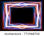 fire and ice lightning and... | Shutterstock . vector #771968743