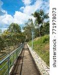 pathway down hill | Shutterstock . vector #771978073