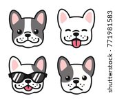 french bulldog hand drawn... | Shutterstock . vector #771981583