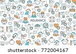 flat line design banner on... | Shutterstock .eps vector #772004167