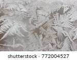 Frosty Pattern On The Window...