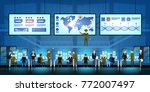 government surveillance agency... | Shutterstock .eps vector #772007497