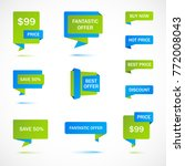 vector stickers  price tag ... | Shutterstock .eps vector #772008043
