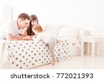 parents teach the child to... | Shutterstock . vector #772021393