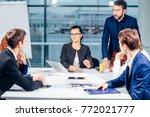team leader and business owner... | Shutterstock . vector #772021777