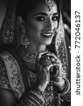 stunning indian bride dressed... | Shutterstock . vector #772046137