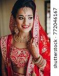 stunning indian bride dressed... | Shutterstock . vector #772046167