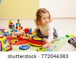 games at the kindergarten | Shutterstock . vector #772046383