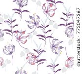 trendy  floral pattern in the... | Shutterstock .eps vector #772047367