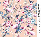 trendy  floral pattern in the... | Shutterstock .eps vector #772047373