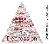 vector conceptual depression or ...   Shutterstock .eps vector #772048363