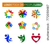 people shape logo  | Shutterstock .eps vector #772050487