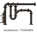 water pipe 3d rendering | Shutterstock . vector #772061893