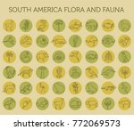 flat south america flora and... | Shutterstock .eps vector #772069573