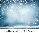 blue winter background with... | Shutterstock . vector #772072507