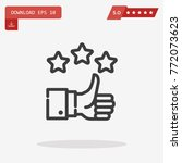 outline thumb up icon isolated...