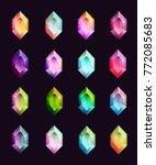gems isolated on dark...   Shutterstock .eps vector #772085683