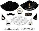 little man printable hats.... | Shutterstock .eps vector #772094527