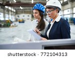 carrying out inspection at... | Shutterstock . vector #772104313