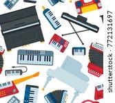 keyboard piano music vector...   Shutterstock .eps vector #772131697
