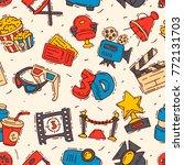 movie cinema icons vector... | Shutterstock .eps vector #772131703