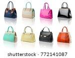 handbags collection on... | Shutterstock . vector #772141087